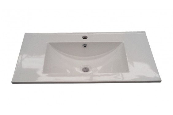 Lavabo Cerámico encastrable 80x45 Blanco