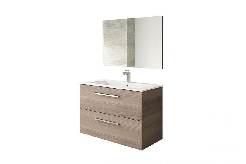 Mueble Espejo De Baño : Mueble de ba?o cm con cajones en color fresno