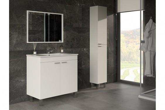 Mueble de Baño 2 Puertas LC1 Blanco