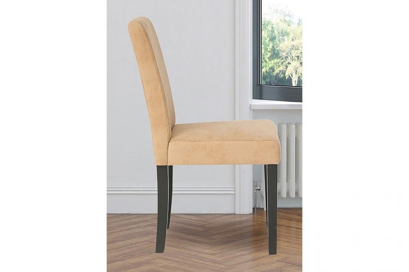 Conjunto de 2 sillas tapizadas en elegante tela de color beige for Sillas salon tapizadas