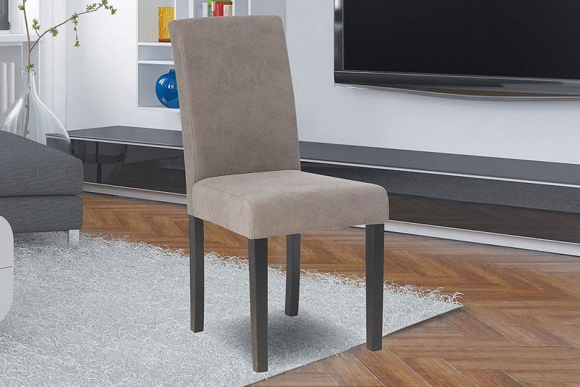 conjunto de 2 sillas tapizadas en elegante tela de color gris