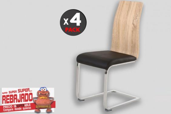 4 sillas salón SENSEI negro y Cambrian 49€/u