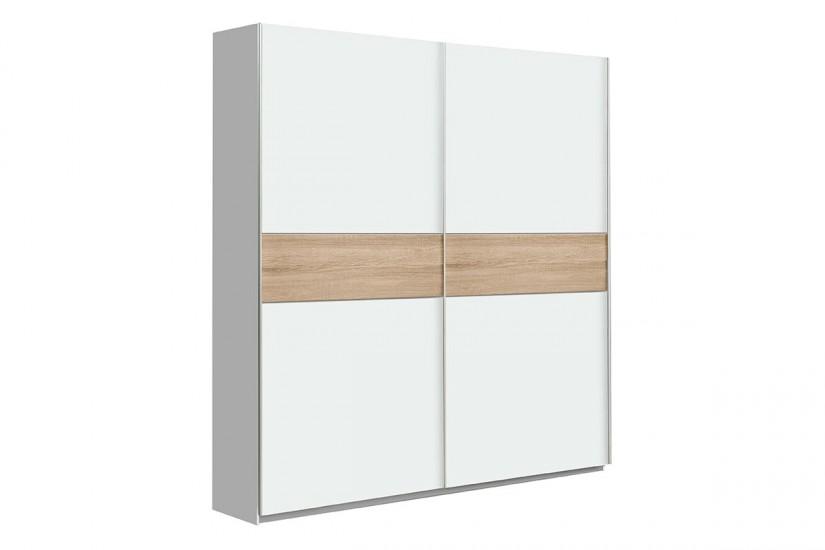 armario 2 puertas correderas 170 cm en color blanco