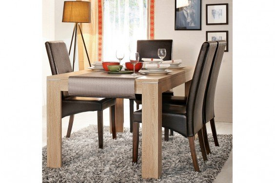 Mesa extensible LATIS Roble Sonoma
