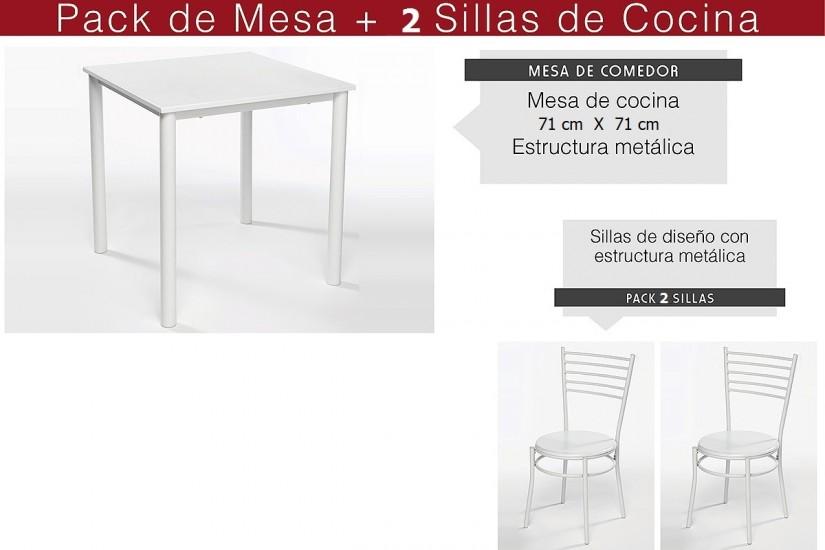 Mesas y sillas de cocina de diseo cocina americana blanca - Mesas y sillas de cocina de diseno ...