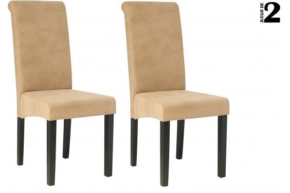 2 sillas salón NAOMI Beige 39€ /u.