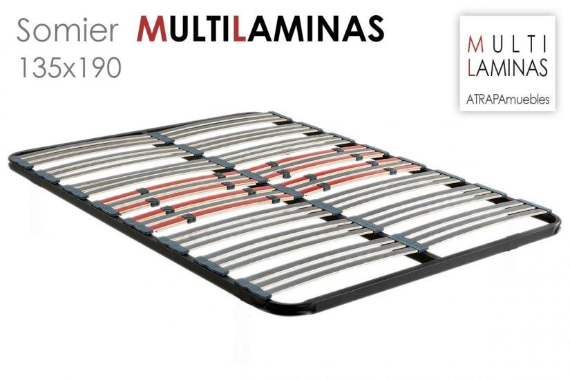 Somier multil minas antideslizantes de 135x190 al mejor precio de internet - Somier laminas 135 ...