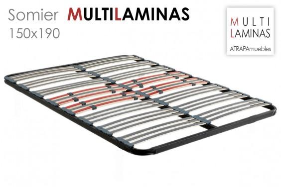 Somier multiláminas antideslizantes de 150x190 al mejor precio de