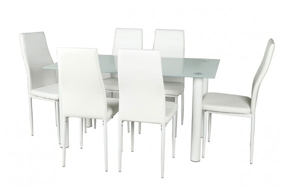 PACK Mesa + 6 Sillas SHADE2 Blanco