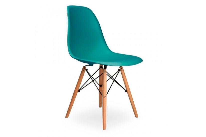 Conjunto de 4 sillas dise o en color turquesa - Sillas turquesa ...