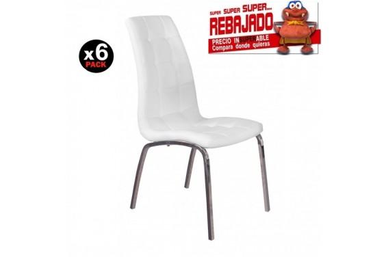 6 sillas salón FLORENCIA Blanco 39€ /u.