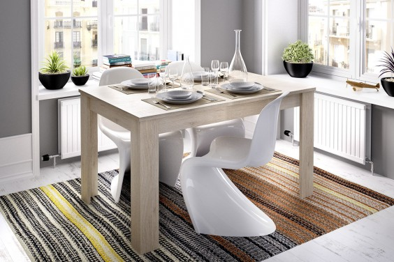 Mesa comedor extensible DINE Roble Natural