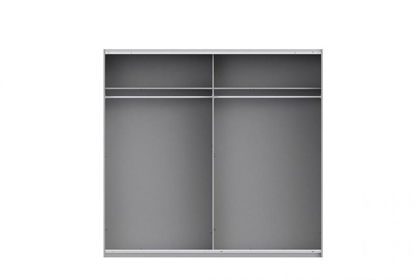 Armario 2 puertas correderas 170 cm en color blanco for Puertas 90 x 210