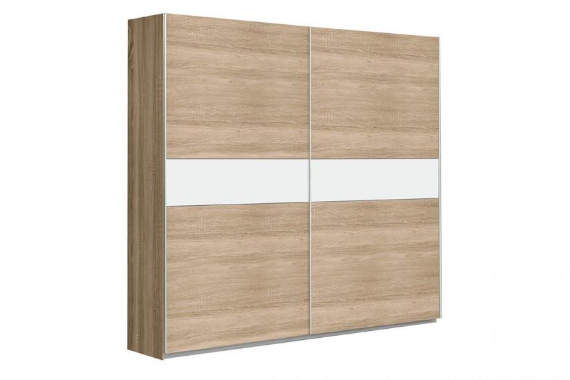 Armario 2 puertas correderas 220 cm en color roble for Puertas 90 x 210