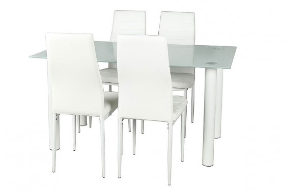PACK Mesa + 4 Sillas SHADE2 Blanco