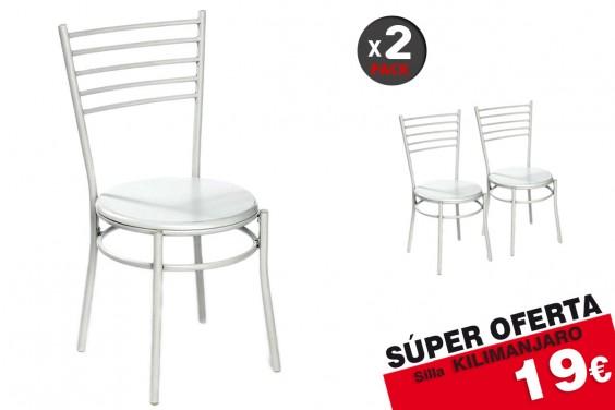2 sillas cocina KILIMANJARO Blanco 19€ /u.