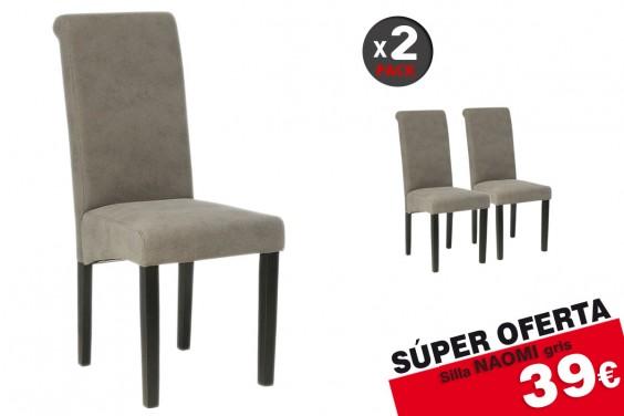 2 sillas salón NAOMI Gris 39€ /u.