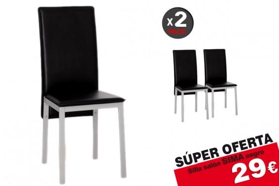 2 sillas salón SIMA Negro 29€/u