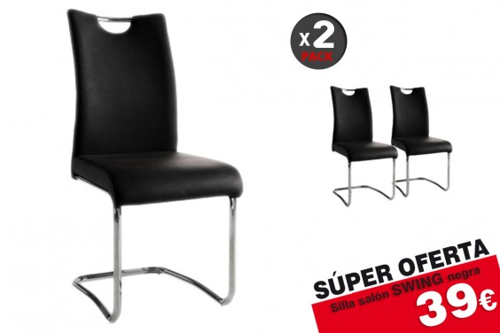 2 sillas salón SWING Taupe (39€/u)