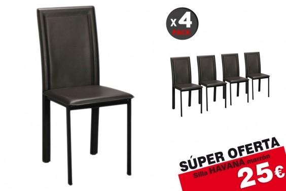 4 sillas salón HAVANA Marrón 25€ /u.