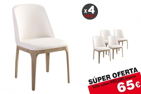 4 sillas salón VELOR Blanco 65€ /u.