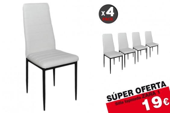 4 sillas salón ZARA1 Blanco