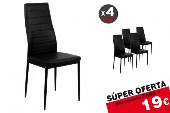 4 sillas salón ZARA1 Negro