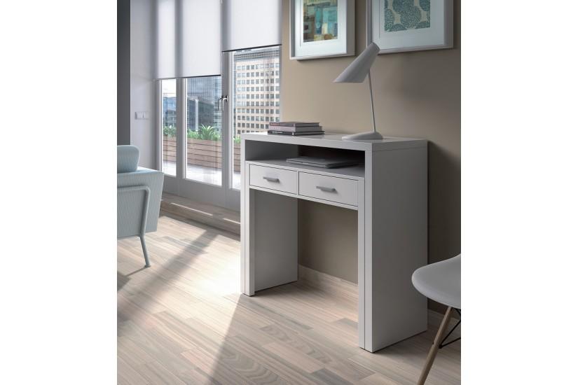 Mesa escritorio extensible 2 en 1 de c nsola a mesa for Bureau 120x60