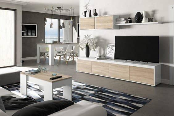 Muebles de sal n baratos muebles modernos atrapamuebles - Muebles bajos para salon ...