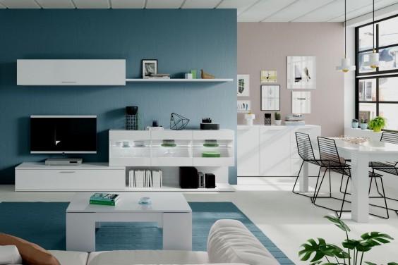 Mueble de salón ARAL VETRO Blanco LEDs