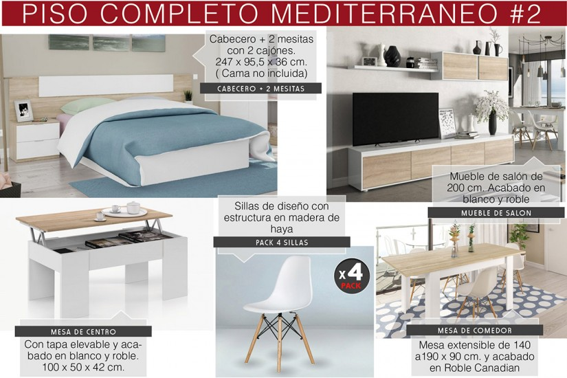 Piso mediterraneo o apartamento completo por solo 395 en - Amueblar piso completo merkamueble ...
