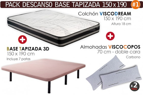 Pack AHORRO Descanso - Base Visco Dream 150x190