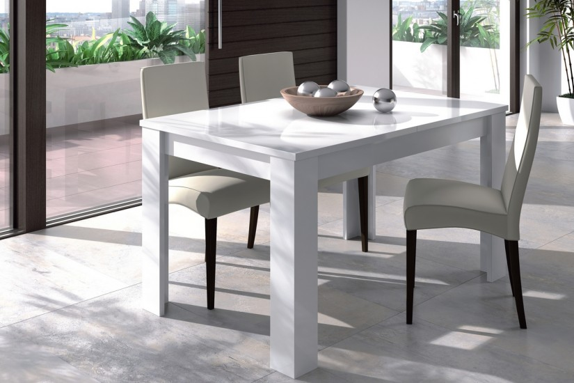 Mesa de sal n comedor extensible 140 190 cm for Sillas de salon conforama