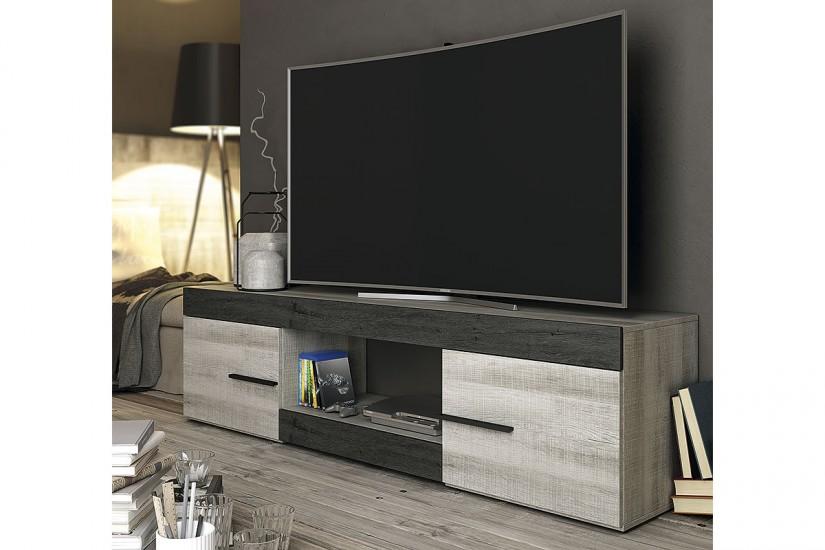 Mueble bajo tv sidney al mejor precio for Mueble salon 180 cm