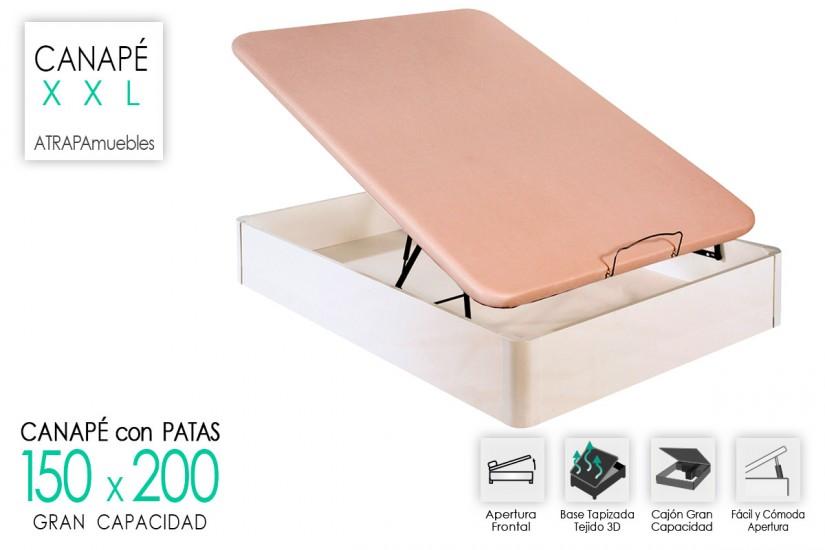 canap xxl de 150x200 con base tapizada al mejor precio
