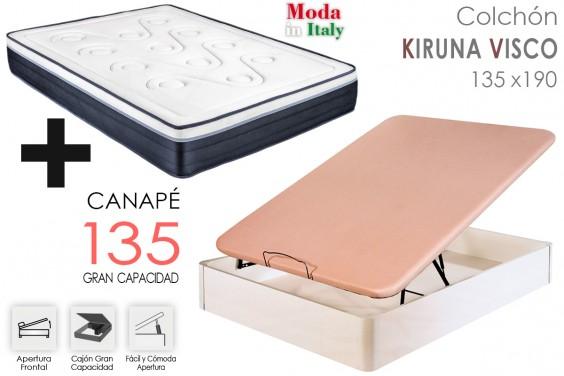 PACK Canapé + Colchón KIRUNA VISCO 135