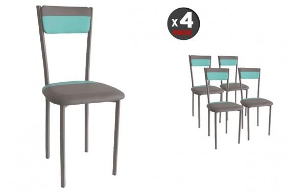 4 sillas SARIN Gris/Azul 29€ /u.