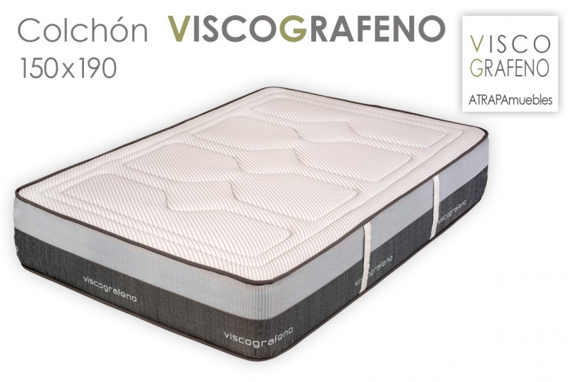 Colch n de 150x190 visco grafeno al mejor precio de internet for Colchon 70 x 190