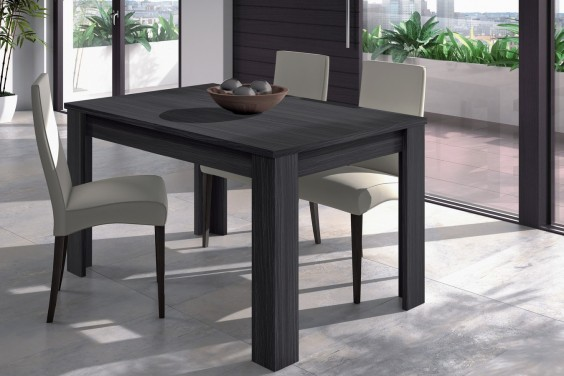 Mesa de sal n comedor extensible 140 190 cm color for Comedor gris y blanco