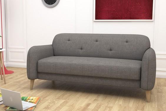 Sofa 3 Plazas NASTASSJA Gris