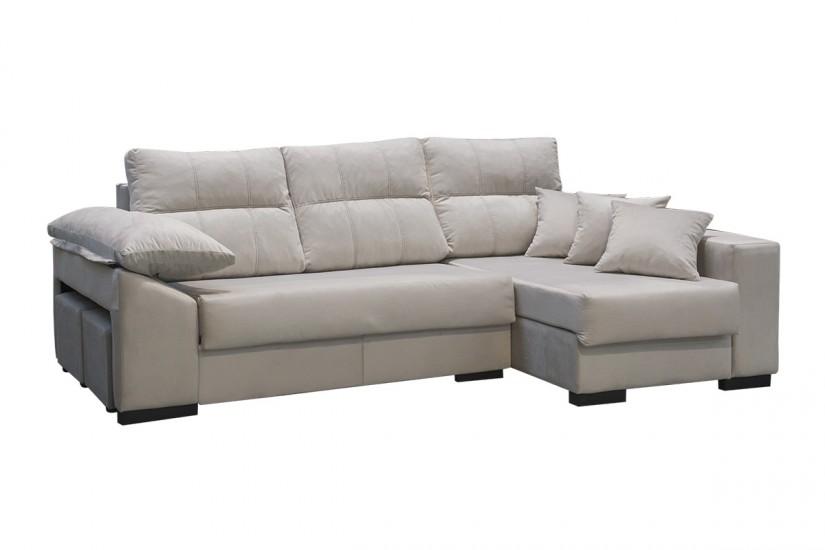 Sof chaiselonge cama tous gris claro al mejor precio for Sofas al mejor precio