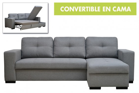 Chaiselongue Cama ATLANTA Gris Reversible
