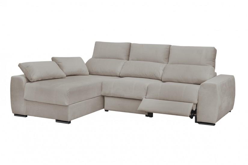 Sof chaiselonge leire en elegante color taupe al mejor precio for Sofas al mejor precio