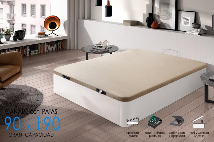 Canap xxl de 90x190 con base tapizada al mejor precio for Canape 90x190