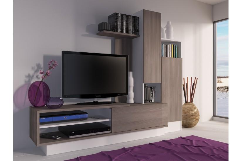 Mueble de sal n bcn5 al mejor precio for Mueble compacto tv