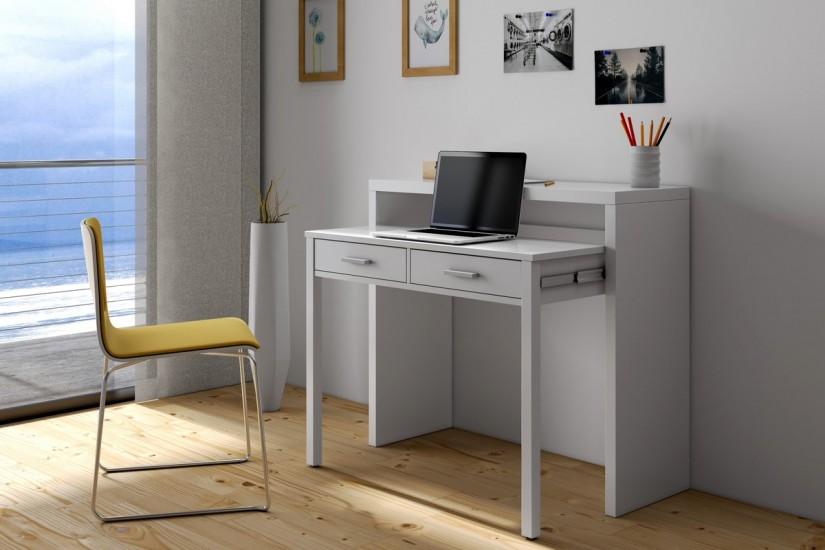 Mesa escritorio extensible 2 en 1 de c nsola a mesa - Mesa escritorio extensible ...