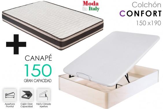 Canap colch n de 150x190 al mejor precio for Canape para cama 150