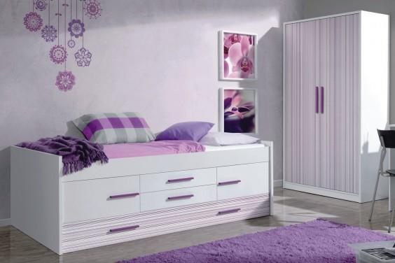 cama doble iplash con somier 2 puertas y 2 cajones