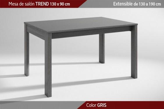 Mesa comedor TREND Gris Extensible 130x90