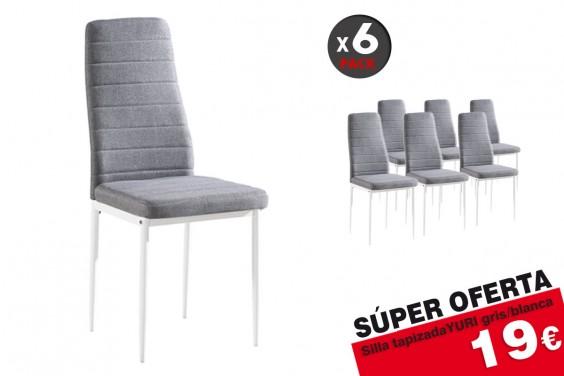 6 sillas salón YURI M023 Gris/Blanco 19€/u.